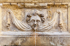 Cherub Fountain. An ancient cherub fountain on the island of Malta Stock Images