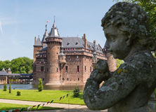 Cherub in the gardens of Castle De Haar, The Netherlands Stock Photo