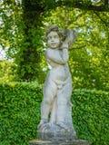 Cherub in the gardens of Castle De Haar, The Netherlands Stock Image
