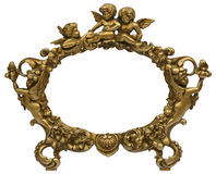 Cherub Gold Picture Frame Stock Images