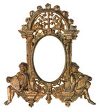Cherub Gold Picture Frame Royalty Free Stock Images