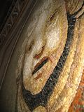 Cherub mosaic. Detailed mosiac from within european church Stock Image