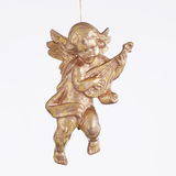 Cherub Playing a Lute Ornament Stock Photos