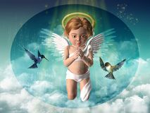 Cherub praying Stock Images