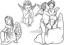 Cherub Set Stock Photo