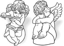 Cherub Set Royalty Free Stock Photos