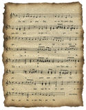 Cherub song. Old sheet music of a prayer of यration, cherub song Royalty Free Stock Photography