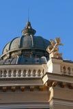 Cherub statue on the roof of Odessa opera theater Stock Photos