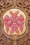 The cherub symbolic on the iconostasis in st. Constanstine and Helena orthodox church Stock Photo