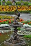 Cherub water fountain stock photography