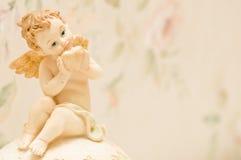 Cherubijn met hart Royalty-vrije Stock Afbeeldingen