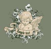 cherubillustration Royaltyfri Foto