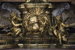 Cherubs and Creation in Saint Peter's. Royalty Free Stock Images