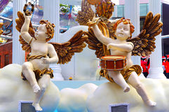 Cherubs playing musical instuments Royalty Free Stock Photo