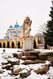 CHERVONOGRAD, UKRAINE - Dezember 23,2017: Kirche stockfotografie