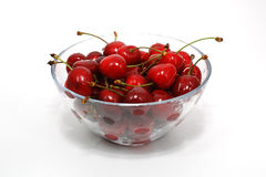 Chery. Red cherry isolated on white background Stock Images