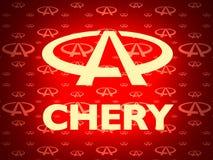 Chery-Autoemblem stock abbildung