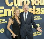 Cheryl Hines e Larry David Fotografia de Stock