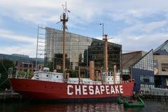 Chesapeake Ηνωμένων πλωτών φάρων LV-116 στη Βαλτιμόρη, Μέρυλαντ Στοκ Εικόνες