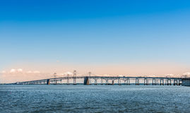 Chesapeake Bay-Brücke in Marland Lizenzfreie Stockbilder