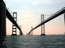 Chesapeake bay bridge 2 stock photo