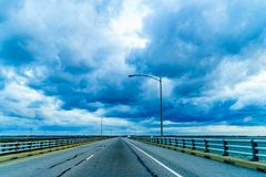 Chesapeake Bay Bridge Tunnel or Lucius J. Kellam Jr Bridge-Tunnel, Virginia Stock Image