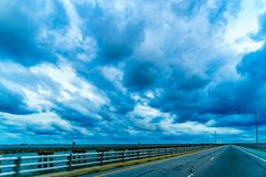 Chesapeake Bay Bridge Tunnel or Lucius J. Kellam Jr Bridge-Tunnel, Virginia Stock Photo
