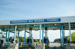 Chesapeake Bay Bridge Tunnel Toolbooth Royalty Free Stock Photography