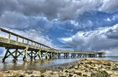 Chesapeake Bay-Fischen-Pier Stockfoto