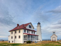 Chesapeake Bay Lighthouse. The Cove Point Lighthouse on the Chesapeake Bay in Maryland Stock Image