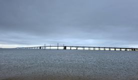 Chesapeake Bay Suspension Bridge Royalty Free Stock Photography