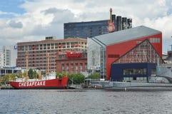 The Chesapeake lightship in Baltimore Stock Image