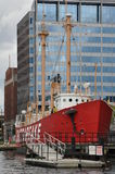 The Chesapeake lightship in Baltimore Stock Photography