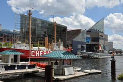 The Chesapeake lightship in Baltimore Royalty Free Stock Images