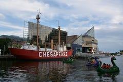 Chesapeake LV-116 de bateau-phare des Etats-Unis à Baltimore, le Maryland Image libre de droits