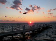 Chesapeake-Schacht-Sonnenuntergang Stockfotos