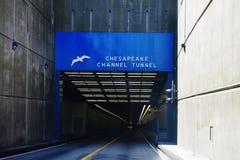 Chesapeake tunnel onder het Kanaalteken Virginia de V.S. Royalty-vrije Stock Afbeeldingen