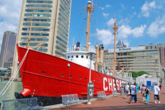 Chesapeakelieferung im Baltimore-inneren Hafen Stockfotos