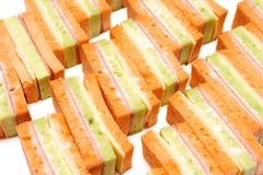 Chese smörgås för skinka Arkivfoton