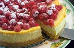 Chesecake da framboesa e do limão Imagens de Stock Royalty Free