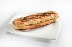 Chesee do presunto do sanduíche Imagem de Stock Royalty Free