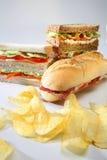 Chesee för smörgåsklubbaskinka Royaltyfria Foton