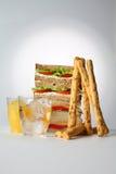 Chesee för smörgåsklubbaskinka Arkivbilder