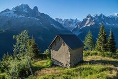 Cheserys, massiccio del Monte Bianco, Chamonix-Mont-Blanc, Savoia haute, Francia Fotografia Stock