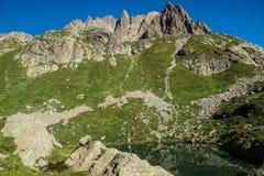 Cheserys, massiccio del Monte Bianco, Chamonix-Mont-Blanc, Savoia haute, Francia Fotografie Stock