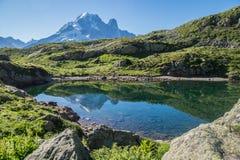 Cheserys, massiccio del Monte Bianco, Chamonix-Mont-Blanc, Savoia haute, Francia Fotografie Stock Libere da Diritti
