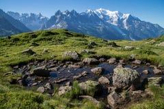 Cheserys, massiccio del Monte Bianco, Chamonix-Mont-Blanc, Savoia haute, Francia Immagini Stock