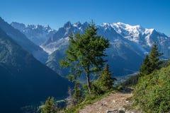 Cheserys, massiccio del Monte Bianco, Chamonix-Mont-Blanc, Savoia haute, Francia Immagine Stock Libera da Diritti