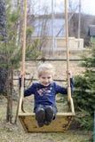 Cheshevichi. Belarus. April 21, 2019. girl blonde rides on hocking stock image