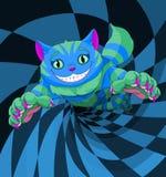 Cheshire Cat banhoppning stock illustrationer
